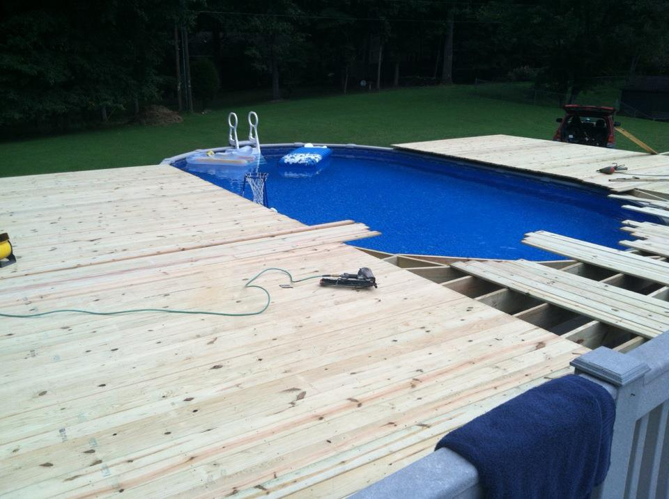 Building a deck around a pool