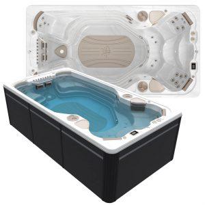 HP20 2021 14AX AquaSport Swim Spa 1300x1300 Image with water